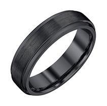 Click here for Men's 6mm Black Tungsten Wedding Band 9.5 prices