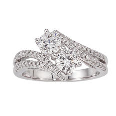 1.20 CT. T.W. Eternally Us 2-Stone Diamond Ring in 14K White Gold
