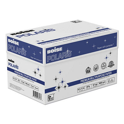 Boise - POLARIS Copy Paper, 8 1/2 x 11, White - 5,000 Sheets/Carton