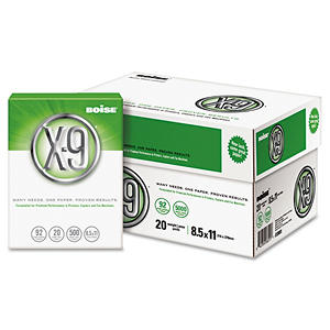 "Boise - X9 Multipurpose Paper, 20lb, 92 Bright, 8-1/2 x 11"" - Case"