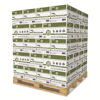 Boise - X-9 Copy Paper, 92 Brightness, 8-1/2 x 11, White - 200,000 Sheets/Pallet
