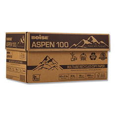"Boise - Aspen 100% Recycled Paper, 20lb, 92 Bright, 8-1/2 x 11"" - Case"