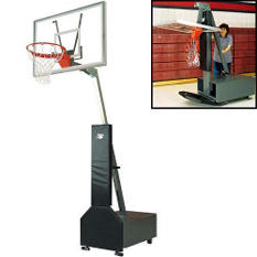 Bison Club Court Adjustable Basketball System