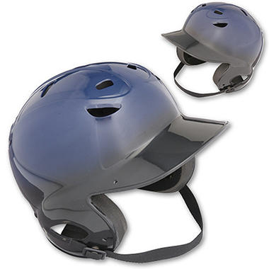 Two-Tone Vented OSFA Batting Helmet - Black/Royal