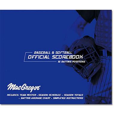 Baseball/Softball Scorebook Oversized for 30 Games