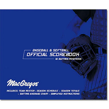 Baseball/Softball Scorebook Oversized for 30 Games