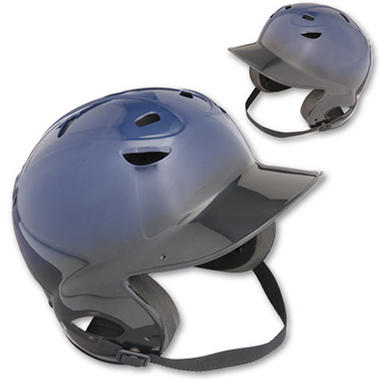 Two-Tone OSFA Batting Helmet- Black/Navy-Youth
