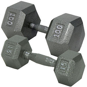 Hex Dumbbell with Ergonomic Handle - 25 lbs.