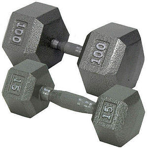Hex Dumbbell with Ergonomic Handle - 50 lbs.