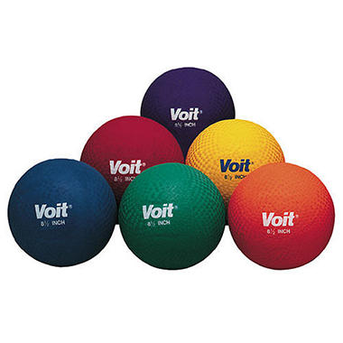 "Voit 6"" Playground Balls - Set of 6"