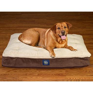 Serta Perfect Sleeper Super PillowTop Pet Bed - Mocha