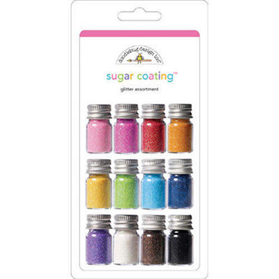 Sugar Coating Glitter Assortment 5 Gram Bottles 12