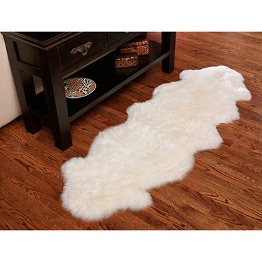 "100% Genuine Sheepskin Rug - 70"" x 23"""