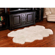 "100% Genuine Sheepskin Rug - 70"" x 44"""