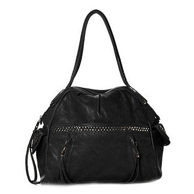 Junior Drake Lia Leather Handbag - Black