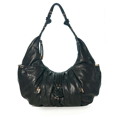 Junior Drake Sophie Leather Handbag - Black