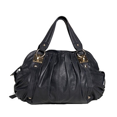 Junior Drake Breanna Leather Handbag - Black