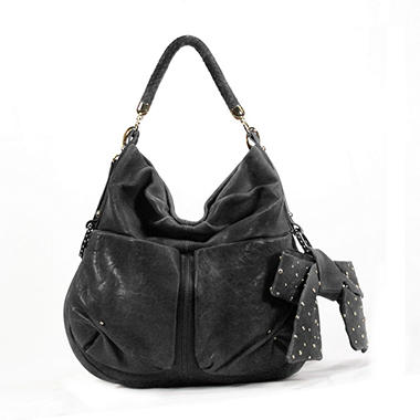 Junior Drake Hahi Leather Handbag - Black