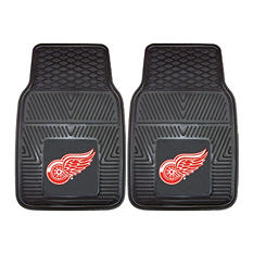 "NHL Detroit Red Wings 2-Piece Heavy Duty Vinyl Car Mats - 18"" x 27"""