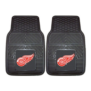 NHL Detroit Red Wings 2-Piece Heavy Duty Vinyl Car Mats - 18