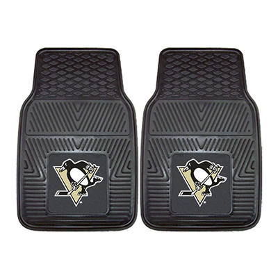 "NHL Pittsburgh Penguins 2-pc Heavy Duty Vinyl Car Mat Set - 18"" x 27"""