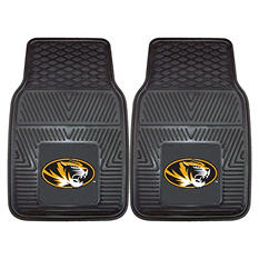 NCAA University of Missouri 2-Piece Heavy-Duty Vinyl Car Mat Set