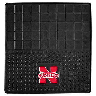 "NCAA University of Nebraska Heavy-Duty Vinyl Cargo Mat - 31"" x 31"""