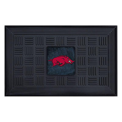 "NCAA University of Arkansas Medallion Door Mat - 19"" x 30"""