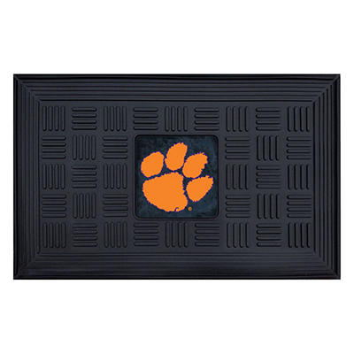 "NCAA Clemson University Medallion Door Mat - 19"" x 30"""