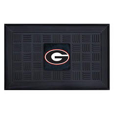 "NCAA University of Georgia Medallion Door Mat - 19"" x 30"""