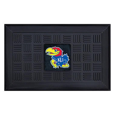 "NCAA University of Kansas Medallion Door Mat - 19"" x 30"""