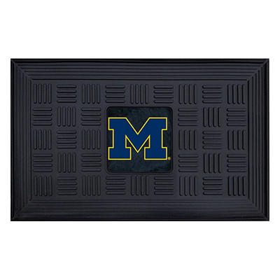 """NCAA University of Michigan Medallion Door Mat - 19"""" x 30"""""""