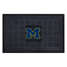"NCAA University of Michigan Medallion Door Mat - 19"" x 30"""