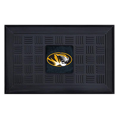 "NCAA University of Missouri Medallion Door Mat - 19"" x 30"""