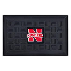 "NCAA University of Nebraska Medallion Door Mat - 19"" x 30"""