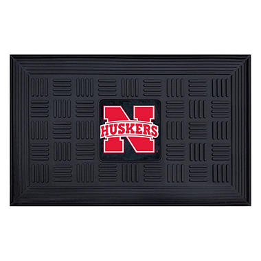 NCAA University of Nebraska Medallion Door Mat - 19