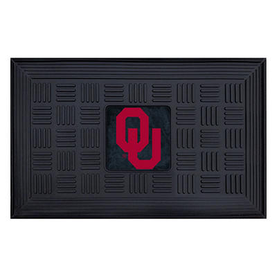 "NCAA University of Oklahoma Medallion Door Mat - 19"" x 30"""