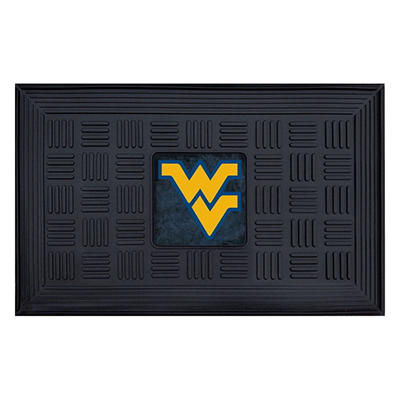 "NCAA West Virginia University Medallion Door Mat - 19"" x 30"""