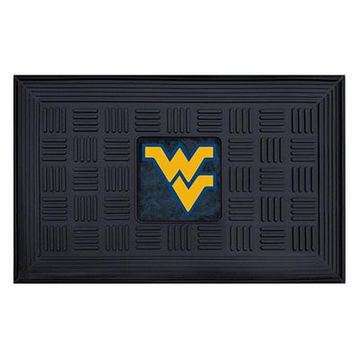 """NCAA West Virginia University Medallion Door Mat - 19"""" x 30"""""""