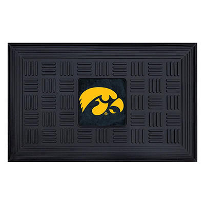 "NCAA University of Iowa Medallion Door Mat - 19"" x 30"""