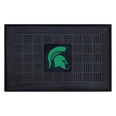 "NCAA Michigan State University Medallion Door Mat - 19"" x 30"""