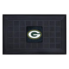 "NFL Green Bay Packers Medallion Door Mat - 19"" x 30"""