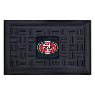 "NFL San Francisco 49ers Medallion Door Mat - 19"" x 30"""