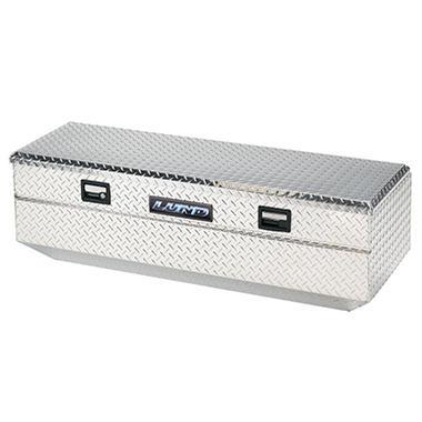 Lund 9456 56-Inch Aluminum Flush Mount Single Lid Truck Tool Box, Diamond Plated, Silver