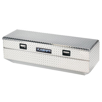 Lund 9456 56-Inch Aluminum Flush Mount Single Lid Truck Tool Box, Diamond Plated, Silver