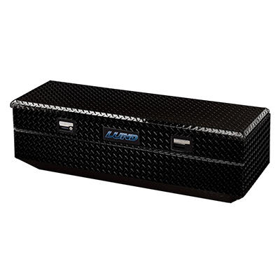 Lund 79456 56-Inch Aluminum Flush Mount Single Lid Truck Tool Box, Diamond Plated, Black
