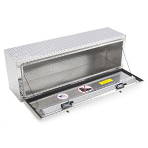 "Lund 48"" Aluminum Top Mount Diamond Plated Truck Tool Box - Silver"