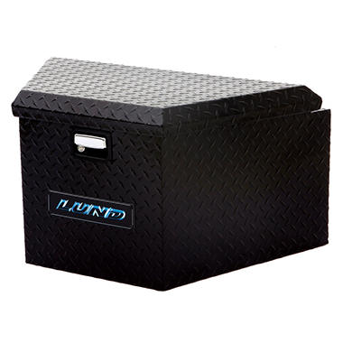 Lund 76120 16-Inch Aluminum Trailer Tongue Truck Box, Diamond Plated, Black
