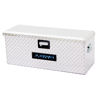 Lund 288271A 32-Inch Aluminum ATV Storage Box, Diamond Plated, Silver
