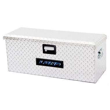 Lund 288273A 36-Inch Aluminum ATV Storage Box, Diamond Plated, Silver